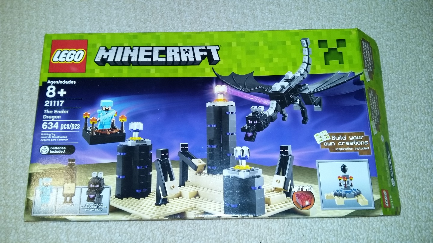 Lego Minecraft Enders Dragon 21117 634 Pieces Complete With Box